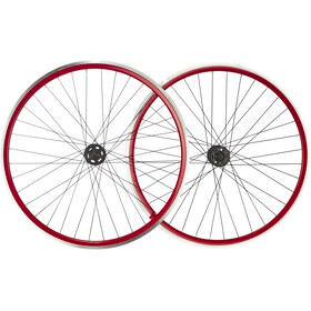 "Point SingleSpeed Paire de roues 28"", red/black"